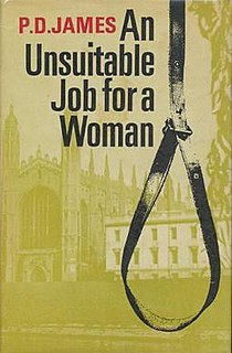 <i>An Unsuitable Job for a Woman</i> novel by P. D. James