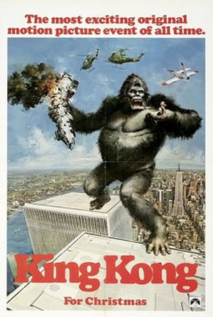 King Kong (1976 film) - Theatrical release poster by John Berkey