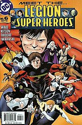 The cover of The Legion of Super-Heroes (vol. 5), #6 (Jul, 2005), featuring the current Legionnaires. Art by Barry Kitson.