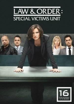 Law & Order: Special Victims Unit (season 16) - Season 16 U.S. DVD cover