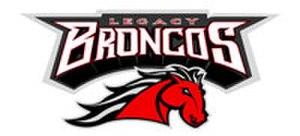 Mansfield Legacy High School - Image: Legacybroncos white logo 1