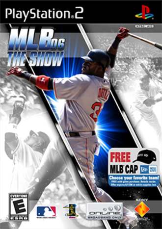 MLB 06: The Show - Cover art featuring David Ortiz