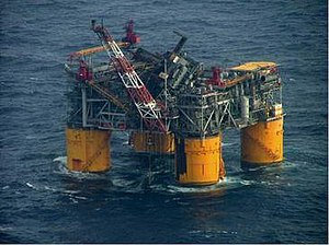Mars (oil platform) - Mars Tension-leg Platform showing damage from Hurricane Katrina (2005)