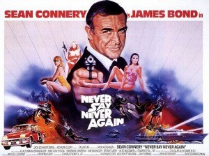 Never Say Never Again - British cinema poster for Never Say Never Again, illustrated by Renato Casaro