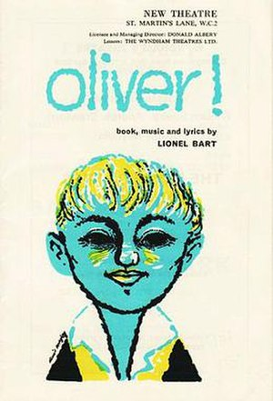 Oliver! - Original theatre programme and poster