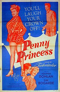 <i>Penny Princess</i> 1952 film directed by Val Guest