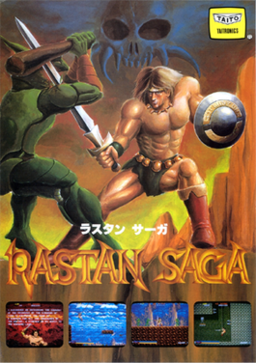 European arcade flyer of Rastan Saga.