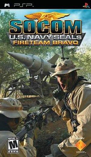 SOCOM U.S. Navy SEALs: Fireteam Bravo - Image: SOCOM Fire Team Bravo PSP North American Front Cover