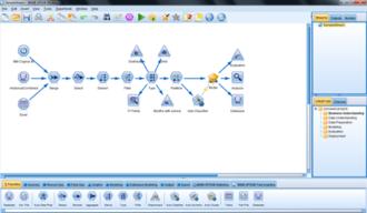SPSS Modeler - Image: SPSS Modeler Sample Stream