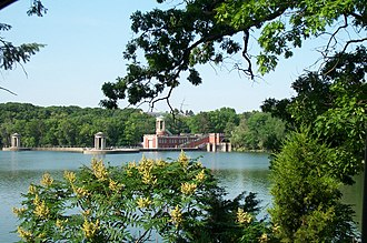 University of Saint Mary of the Lake - Photo of University of Saint Mary of the Lake Boat House from across the lake. Taken by Ken Torbeck.