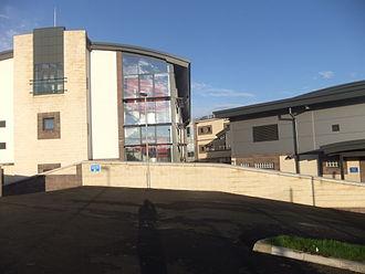 St Ninian's High School, Douglas - New lower school of St Ninian's High School in Onchan, shortly before the school opened in 2012