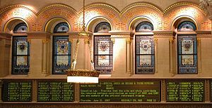 Stained Glass Windows in the NYS Assembly Chamber.