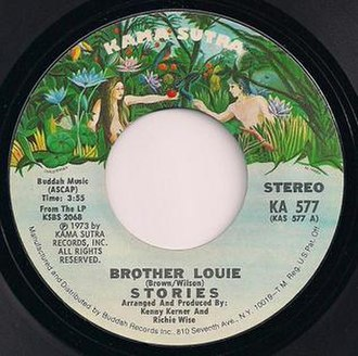 Brother Louie (Hot Chocolate song) - Image: Stories Brother Louie single scan