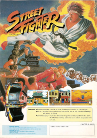 Street Fighter (video game) - North American arcade flyer of Street Fighter.
