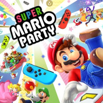 Super Mario Party - Primary artwork, featuring some of the game's playable characters