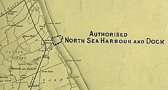 Sutton-on-Sea - Port proposed by the Lancashire, Derbyshire and East Coast Railway