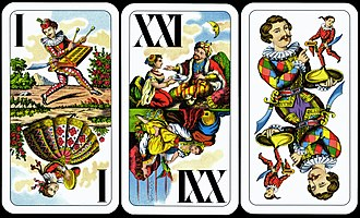 Tarot card games - The Trull, the highest-valued trumps in Central European Tarock games