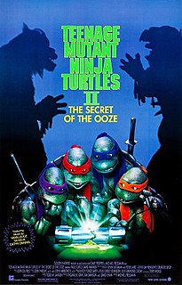 <i>Teenage Mutant Ninja Turtles II: The Secret of the Ooze</i> 1991 US science fiction/martial arts live-action film directed by Michael Pressman