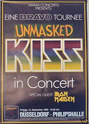 Unmasked Tour - Official tour advertisement for Philipshalle, Düsseldorf, September 12, 1980