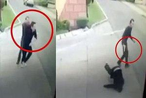Murder of Vicente Bermúdez Zacarías - Surveillance video screenshot showing the moment when he was shot