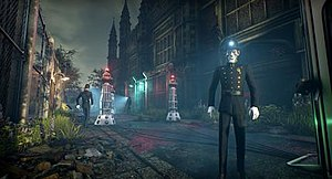 "We Happy Few - Influential works of fiction, such as Doctor Who, BioShock, V for Vendetta and The Prisoner, provided inspiration for developers with shaping the retrofuturistic, dystopian world of ""We Happy Few"""