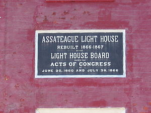 Assateague Light - Image: Williamsburg 07 063