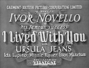 "I Lived with You - Image: ""I Lived With You"" (1933)"