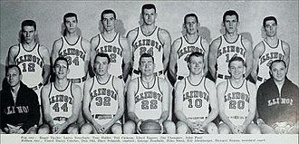 1956–57 Illinois Fighting Illini men's basketball team - Image: 1956–57 Illinois Fighting Illini men's basketball team
