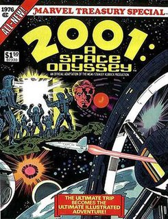 <i>2001: A Space Odyssey</i> (comics) oversized comic book adaptation of the 1968 film of the same name as well as a monthly series
