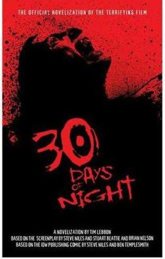 30 Days of Night (novel) - Image: 30 Days of Night Novelization by Tim Lebbon