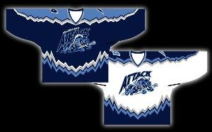 Albany Attack - Jerseys of the Albany Attack franchise (1999–2003) of the National Lacrosse League. The dark jersey was traditionally the road jersey; the light jersey was traditionally the home jersey. The jerseys were manufactured by ProJoy.