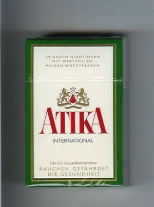 Atika (cigarette) - Image: Atika International (Full flavour)