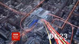 BBC World News - Part of the countdown sequence in 2013, showing Broadcasting House