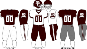 2008 Texas A&M Aggies football team - Image: Big 12 Uniform TAMU 2007 2008