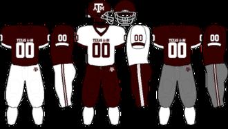 2008 Texas A&M Aggies football team - Image: Big 12 Uniform TAMU 2007 2008