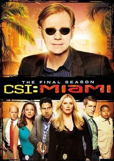 <i>CSI: Miami</i> (season 10) Season of American television series CSI: Miami