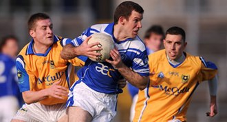 2008 Ulster Senior Club Football Championship - Action from the semi-final match between St. Gall's (yellow) and Cavan Gaels (blue)