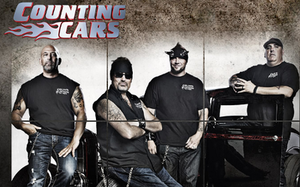 Counting Cars - The cast (from left to right): Kevin, Danny Koker, Horny Mike and Scott