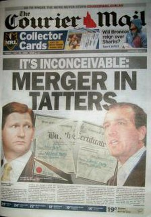 The Courier-Mail - Image: Courier Mail front page 2008 07 25