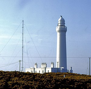 Covesea Skerries Lighthouse - The lighthouse photographed in June 1983
