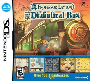Professor Layton and the Diabolical Box - North American box art