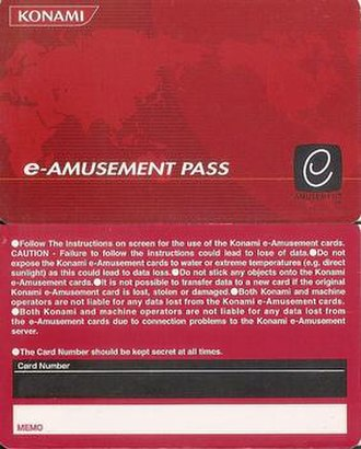 E-Amusement - Older e-Amusement Pass design.