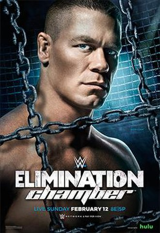 Elimination Chamber (2017) - Promotional poster featuring John Cena