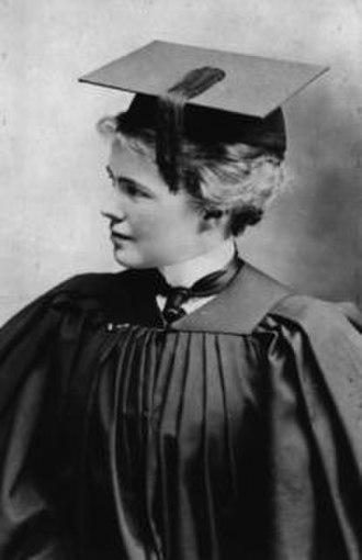 Connecticut Women's Hall of Fame - Image: Emily Dunning Barringer Graduation 1901