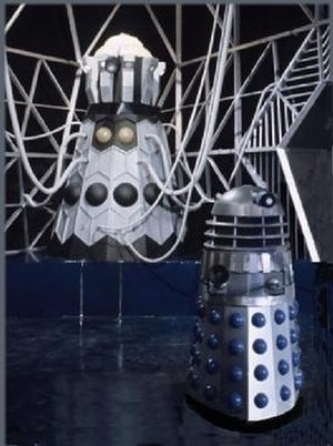 Dalek variants - The Dalek Emperor and a Mark 3 Dalek from The Evil of the Daleks.