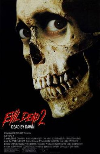 Evil Dead II - Theatrical release poster
