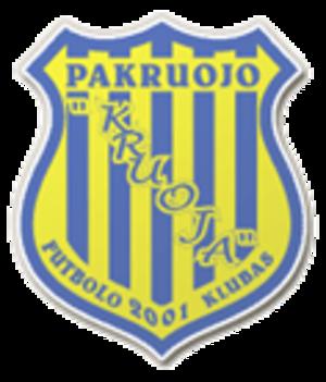 FK Kruoja Pakruojis - Image: FK Kruoja Pakruojis