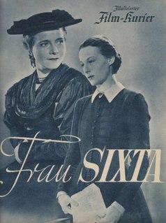 <i>Frau Sixta</i> 1938 film directed by Gustav Ucicky