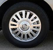 "Standard 16"" 16-spoke aluminum wheels with P225/60VR16 Pirelli P6 Four Seasons."