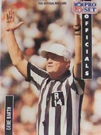 Gene Barth - Gene Barth football trading card